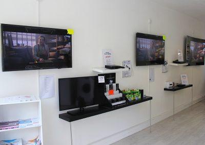 Différentes tailles de TV disponibles au magasin