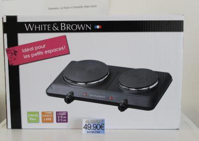Réchaud Electrique WHITE AND BROWN